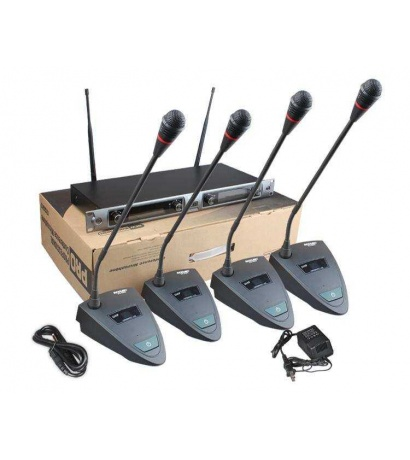 ACEMİC EU-8204 4LÜ WIRELESS CONFERENCE MICROPHONE SYSTEM