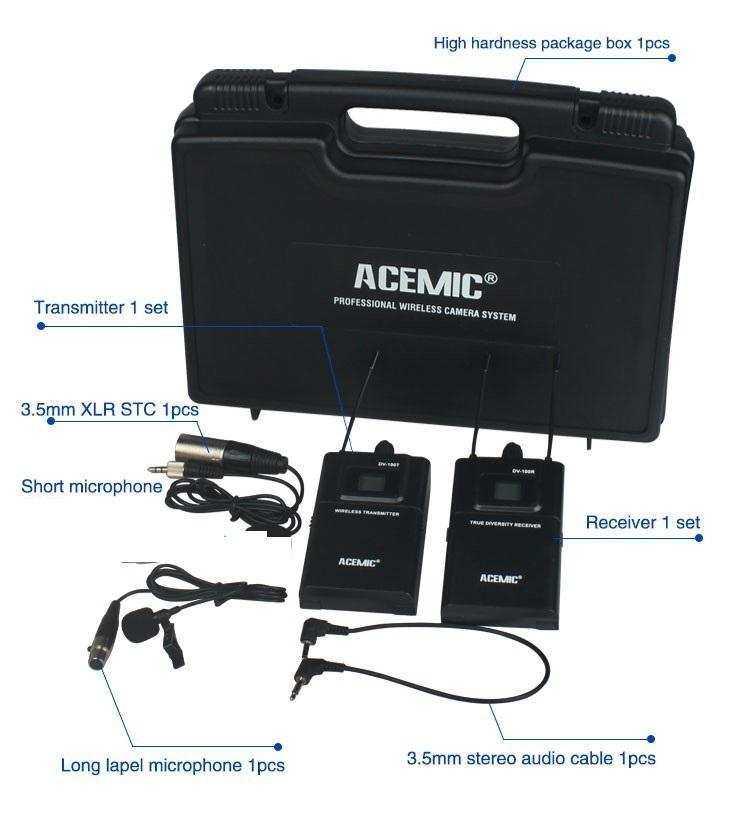 ACEMİC DV-100 YAKA  Wireless Camera Microphone System