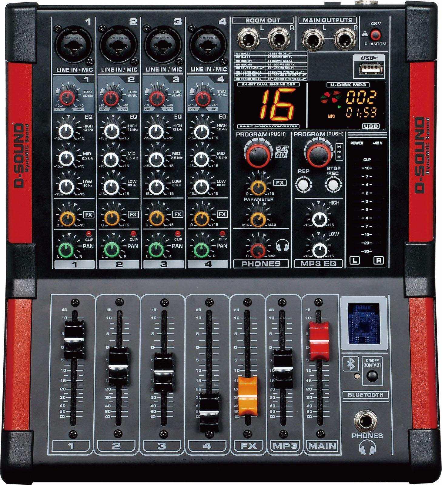 D-SOUND M-400   4 KANAL DECK  MİXER