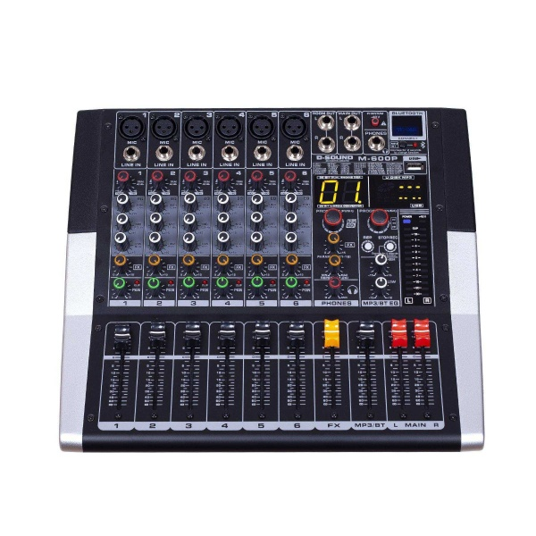 D-SOUND M-600P 6 KANAL  POWER MİXER