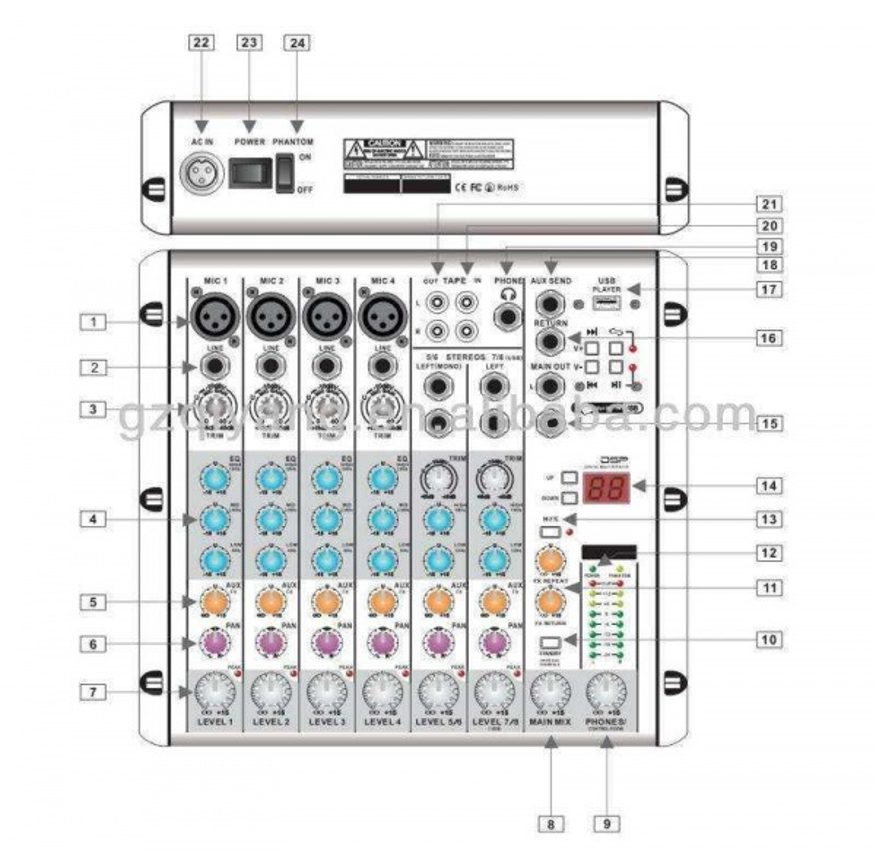 D-SOUND RMV6/2FX DEC MİXER
