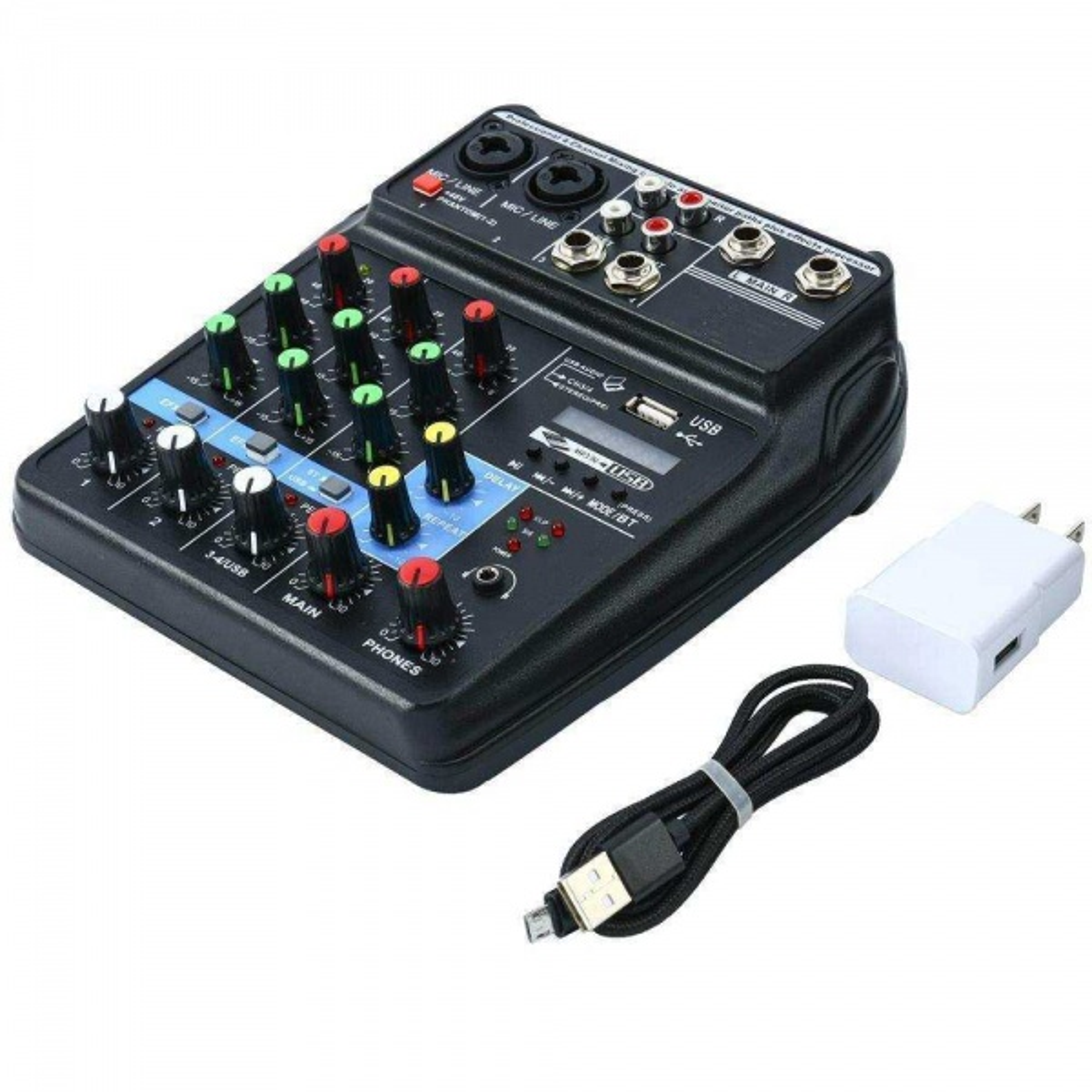 D-VOICE M-400BTI SES KARTLI MİXER 4 KANAL BLUETOOH,USB