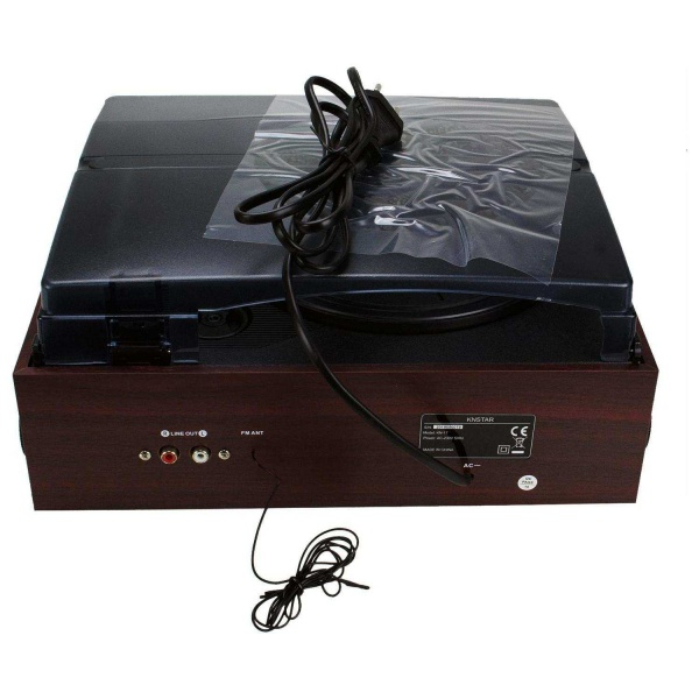 Knstar Kn-17 Hoparlörlü Pikap Radyo Kaset USB Mp3 Çalar