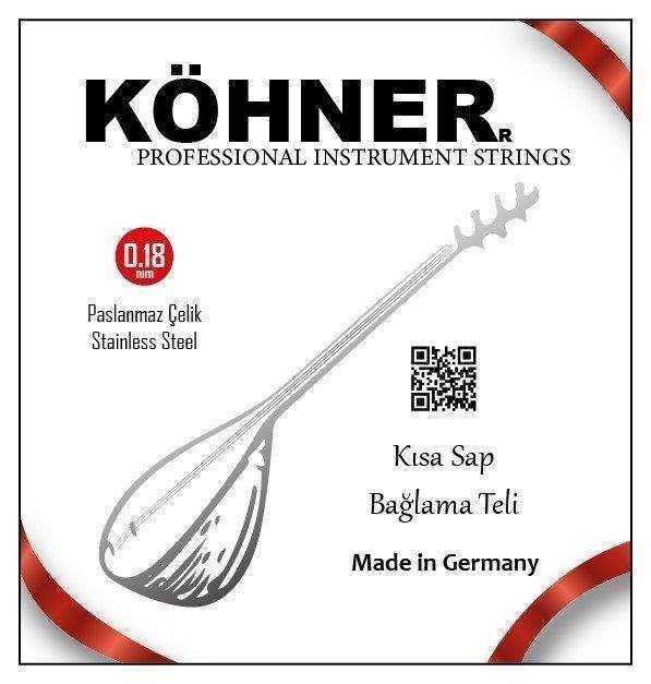 Köhner Saz Teli 0.18 Kısa Sap Bağlama teli