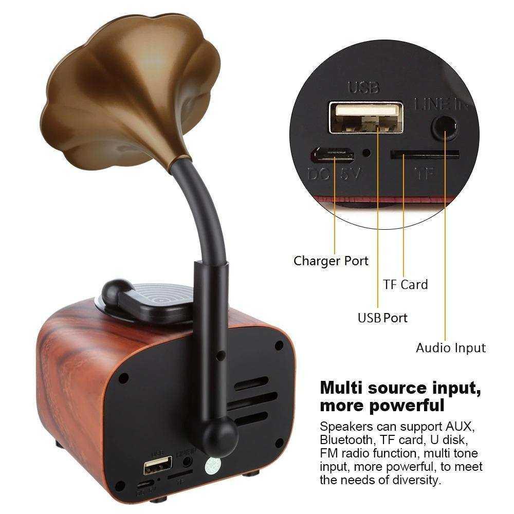 Music Apollo B7 Mini Gramafon Bluetooh Speaker