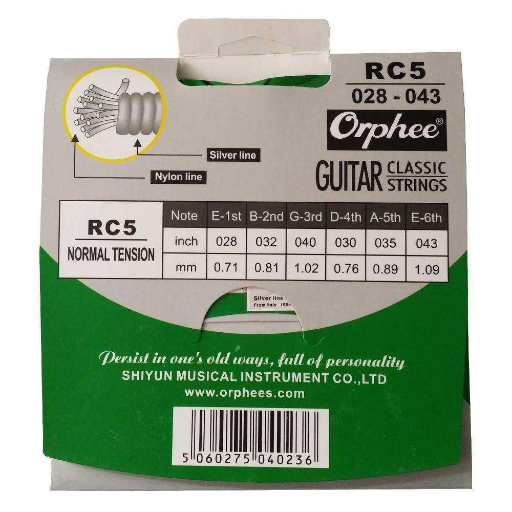 ORPHEE RC-5 KLASİK Gitar  Nylon, Normal Tension Takım Tel