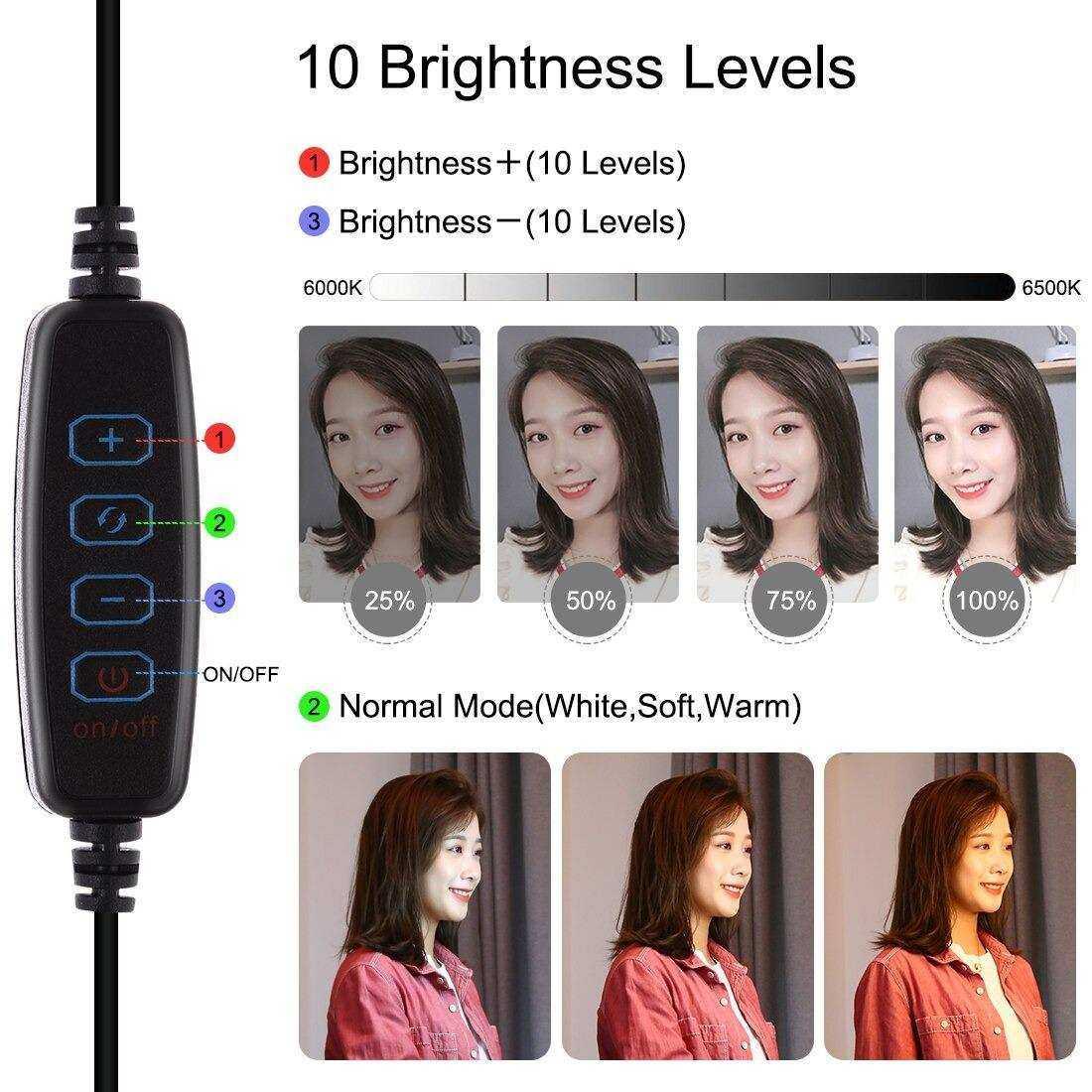 OXID 20-8  20CM Standlı LED Fill Light Photo Studio
